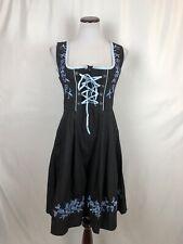 NWT Glory Star Oktoberfest German Style Dress Lace Up Black Blue Large