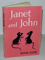 Janet And John Book - Book Four - Paperback Book c1950 - Illustrated