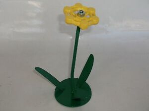 Yellow Metal Flower, Faucet Flower Metal Art, miniature Valentines Gift