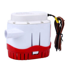 12V 2000gph Boat Bilge Water Pump Built-In Float Switch Automatic Submersible-AN