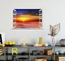 3D Sunset Sky River 115 Open Windows WallPaper Murals Wall Print AJ Carly