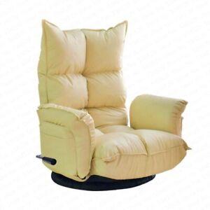 Living Room Folding Bedroom Chair Bay Window 360° Sofa Chair bean bag Leather