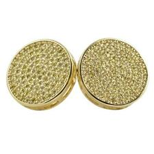 Hip Hop Xxl Circle Gold Canary Cz Bling Bling Earrings IcedOut Ear Jewelry