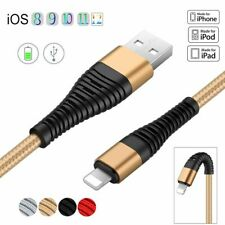 1M~3M For iPhone XS 8 7 6 Plus 2A Braided Lightning USB Fast Charging Data Cable