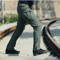 Mens Combat Army Cargo Pants Work Pants Military Camo Tactical Straight Trousers