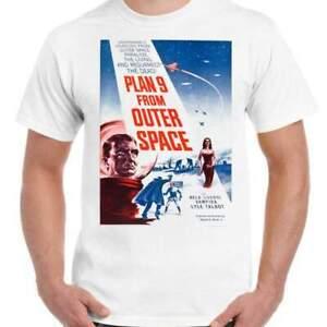 Plan 9 from Outer Space - Unisex White T-Shirt - Geek Retro Fun Kitsch