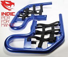 ANODIZED BLUE NERF BARS YAMAHA WARRIOR 350 FREE SHIPPING QUADS W350 W 350