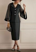 NEW WOMENS ASHRO BLACK ALANA SKIRT SUIT SIZE 6 DERBY CHURCH MOTHER OF BRIDE