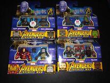 Lot Of 4 Marvel Minimates War Machine Cull Obsidian Captain America Drax Gamora