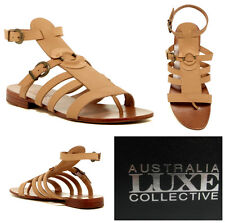 AUSTRALIA  LUXE  * PALM * BOHO  LEATHER  GLADIATOR  SANDALS   Sz 6  NIB   $ 180