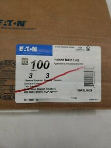 EATON 3BR3L100S 100 Amp 3-Space/Circuit Type BR 3 Phase Main Lug Load Center