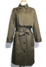 Hermes Trench Coat Ladies 38 Ghana Belted Cotton 2148103339165 200 Second _25619