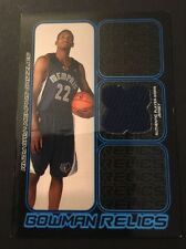Rudy Gay Grizzlies Connecticut 2006 Bowman Relics Jersey Certified JG7