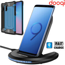 For Samsung Galaxy Note 10 + 5G S 7 8 9 10 20 Qi Fast Wireless Charger Stand Pad
