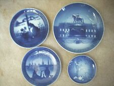 4 Commemorative Plates From Denmark Royal Copenhagen Bing & Grondahl