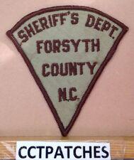FORSYTH COUNTY, NORTH CAROLINA SHERIFF (POLICE) SHOULDER PATCH NC