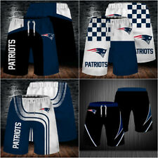 New England Patriots Football Summer Beach Shorts Loose Sports Short Swim Trunks