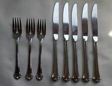 Oneida Midtowne Stainless USA 9 Pcs Set Salad Forks Knives Flatware