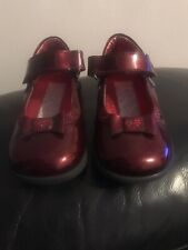 red patent baby shoes