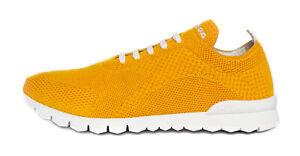 KITON SNEAKERS SHOES yellow cotton textile extra-luxury Italy 42 us 9