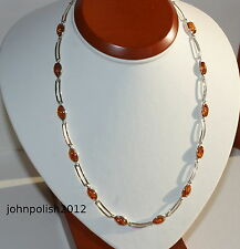 Beautiful Baltic Amber Necklace with Silver 925