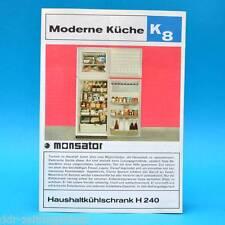 Haushaltkühlschrank H240 Monsator DDR 1970 | Prospekt Werbung DEWAG K8 C