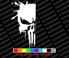 """Punisher Half Skull"" Sticker Vinyl Cut Decal"