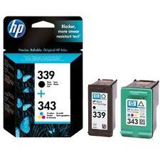 Genuine Original HP 339 + 343 Ink Cartridges C8767EE & C8766EE Deskjet Officejet