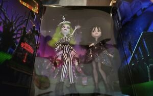 Beetlejuice & Lydia Deetz Monster High Skullector Doll 2-Pack - IN HAND