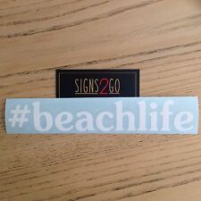 BEACH LIFE CAR STICKER For Car Camper 4x4 Van Caravan Surfboard MacBook iPad