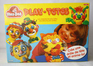 VERY RARE VINTAGE 1995 PLAY DOH PLAY TETES FACES HEADS PLAYSET KENNER NEW SEALED