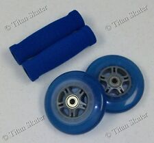 BLUE Replacement Set for Razor Pro Scooter 100mm Wheels, Bearings, Handle Grips!