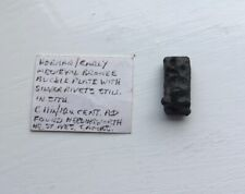 11th/12th Cent bronze and silver buckle plate - found Needingworth, nr St. Ives