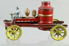 ca1910 PRESSED STEEL WIND-UP TRANSITIONAL FIRE ENGINE PUMPER TRUCK By KINGSBURY