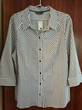 Jacqui E 3/4 Sleeve Striped Tops & Blouses for Women