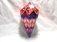 """Red White & Blue Christmas Ornament 8"""" Trimsetter Dillards New w/Tag w1s2"""