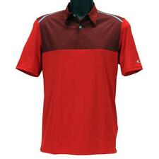 Oakley Color Block Polo Mens M Medium Red Line Casual Golf Regular Tee Shirt