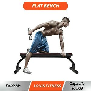 300KG Load Fitness Flat Bench Weight Press Gym Home Strength Training Exercise