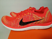 Nike Free 4.0 Flyknit HOT LAVA Running Shoes 717075-600 Men Sz 12.5 NEW