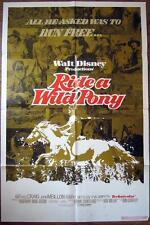 1975 RIDE A WILD PONY~ BORN TO RUN~ WALT DISNEY ~ MOVIE POSTER 1 SH OR