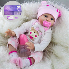 "22"" Reborn Baby Dolls Real Life Like Realistic Newborn Baby Girl Doll Clothes UK"