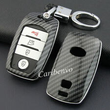 Carbon Fiber ABS Solid Car Keychain Cover For KIA Optima Sorento Sedona Sportage