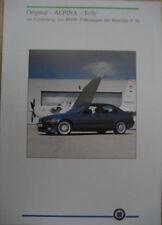 Prospekt original BMW ALPINA Teile 3er E36  03/92  incl. Preise CHF