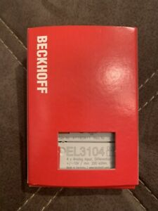 BECKHOFF EL3104 4-Kanal-Analog-Eingangsklemme Diff -10…+10 V / 16 BIT