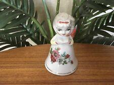 Vintage Royal Coronets Dan Brechner Girl in Flower Dress Porcelain Bell Figurine