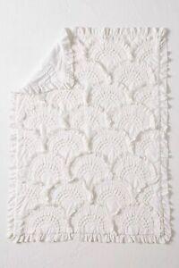 Anthropologie White Rivulets Toddler Quilt- NEW! Regularly $128