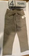 Gap Toddler Boys Tan Khaki Pants Pull On Waist W Tie Size 4t Chino Uniform