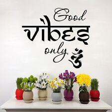 Wall Decals Good Vibes Only Decal Meditation Vinyl Sticker Home Art Decor T92