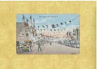 NY Coney Island Brooklyn 1924 postcard SURF AVE VERY BUSY New York to Malden
