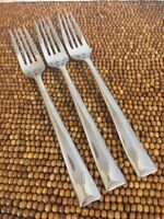 gs Gourmet Settings SOPRANO 18/10 Stainless Glossy Beveled End 3 DINNER FORKS 8+